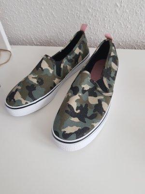 H&M Zapatos formales sin cordones negro-caqui