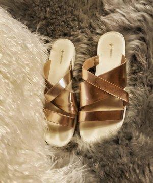 Stradivarius Slippers white-rose-gold-coloured