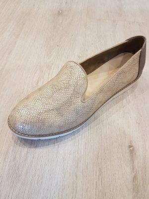 Slipper in Gold/ Beige