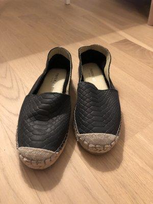 Slipper in Kroko-Optik von Pavement, schwarz, Größe 38