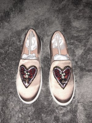 Slipper in rosa-lila Metallic