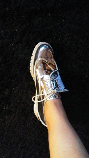 Slipper in silber von Zara Größe 40