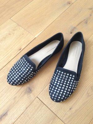 Zara Trafaluc Pantofola nero-argento