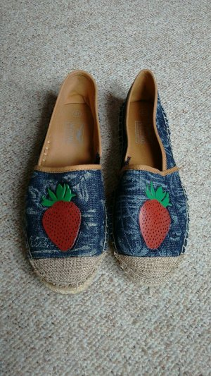 Slipper mit Patch, jeansoptik