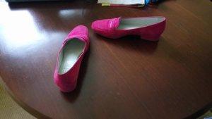 Slipper mit Schnalle in pink