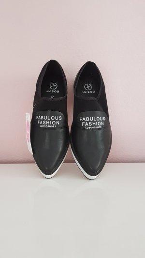 Slippers white-black