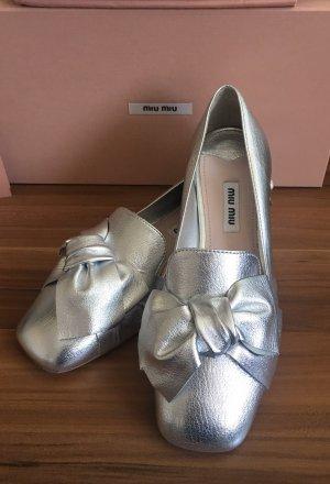 Miu Miu Zapatos formales sin cordones color plata