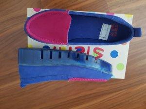 Slipper Original Stefania Rauhleder pink/blau Neu & ungetragen Größe 39