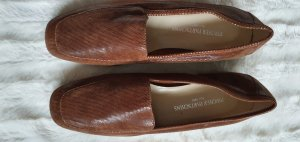 Slippers cognac-coloured