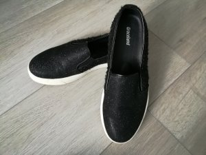 Slipper Sneaker schwarz Glitzer