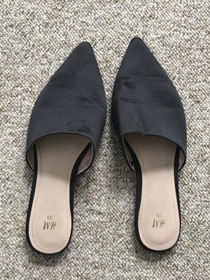 H&M Klompen zwart Textielvezel