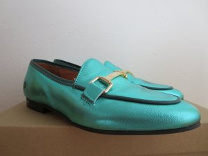 Apple of eden Slip-on Shoes turquoise leather