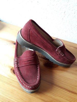 Alba Moda Zapatos formales sin cordones rojo oscuro