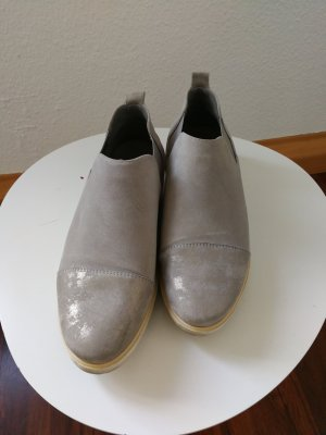 ara Slippers silver-colored-light grey leather
