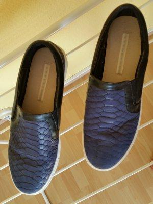 Stylesnob Zapatos formales sin cordones azul