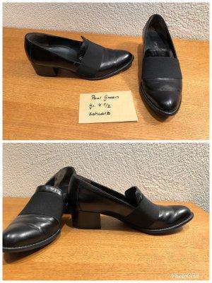 Paul Green Chaussure de travail noir cuir