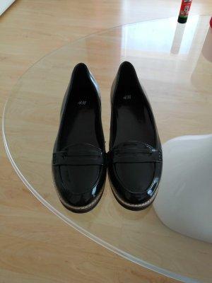 Slippers schwarz lack