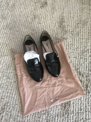 Miu Miu Patent Leather Ballerinas black