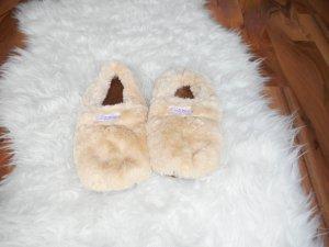 Botas de fieltro crema