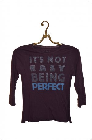 "Slogan Shirt ""Perfect"" Gr. XS"
