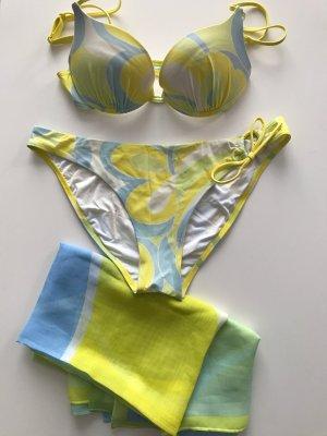 Sloggi sls Sun Dreams: Bikini Oberteil 36 Cup C,  Slip Bikinihose Gr. 40, Pareo