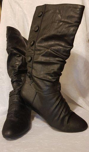 Jumelles Slouch Boots black imitation leather