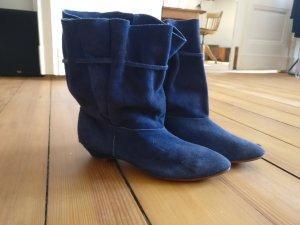 Vintage Slappe laarzen veelkleurig Suede