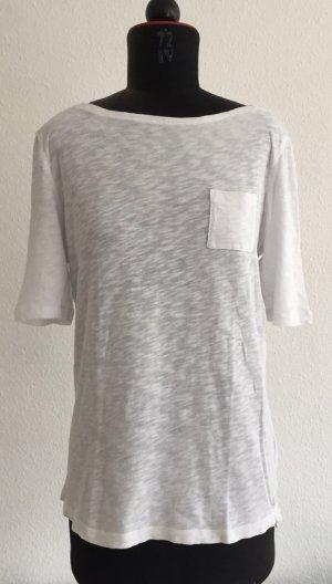 Slub Yarn T-Shirt, weiß von Marc O'Polo Größe L