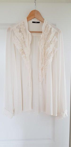 Sly 010 Blusa de seda blanco puro Seda