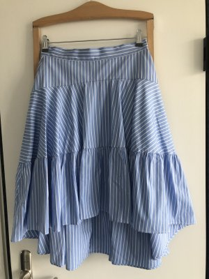 Sly 010 Broomstick Skirt white-cornflower blue cotton