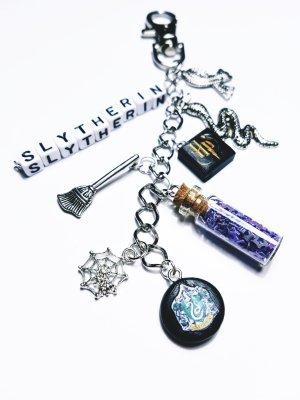 Slytherin Harry Potter neu diy handgemacht silber Modeschmuck Glitzer Charm Schlüsselanhänger Fan
