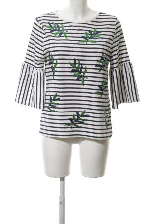 small talk Gestreept shirt wit-donkerblauw gestreept patroon casual uitstraling