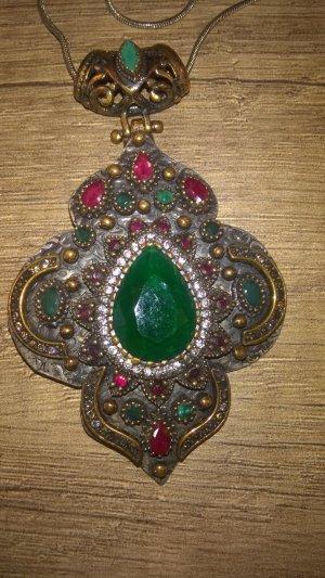 Gioiello argento-verde scuro Argento