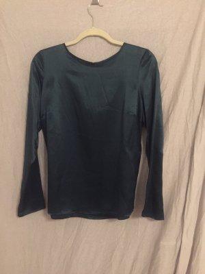 Smaragdgrüne Bluse aus 100% Seide