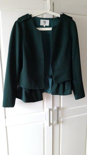 Smaragdgrüner Blazer mit abnehmbaren Schößchen Gr. 38