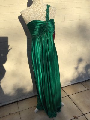 Smaragdgrünes One Shoulder Abendkleid 38  neu mit Etikett
