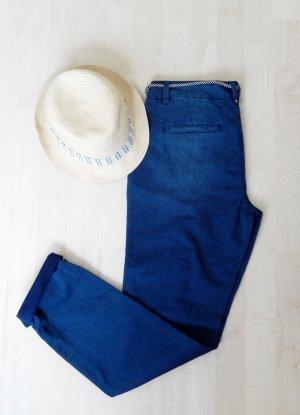 s.Oliver Chino blauw-donkerblauw Katoen