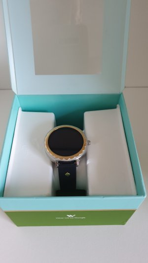 Kate Spade Reloj con pulsera de cuero negro