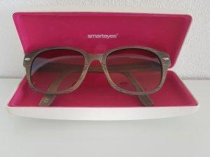 SMARTEYES Sonnebrille aus Holz, hellgrau/beige