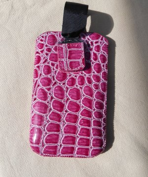 Mobile Phone Case pink imitation leather