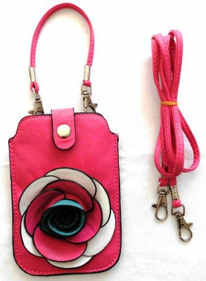 Carcasa para teléfono móvil rosa Imitación de cuero