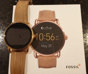 Fossil Montre numérique or rose-marron clair