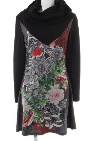 Smash A-Linien Kleid abstraktes Muster extravaganter Stil