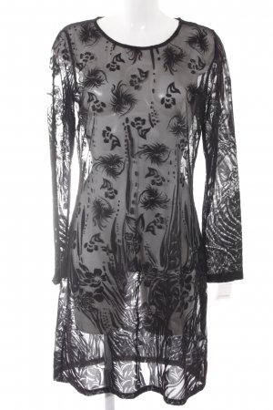 Smash Midikleid schwarz florales Muster Elegant