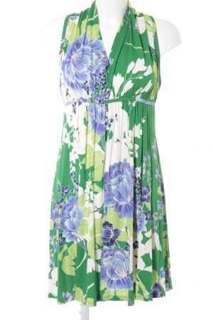 Smash Minikleid grün-blau Blumenmuster Casual-Look