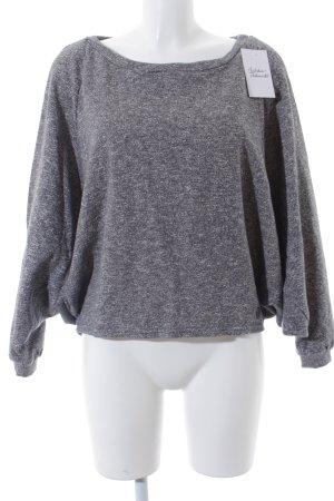 Smash Oversized Pullover grau-weiß meliert sportlicher Stil
