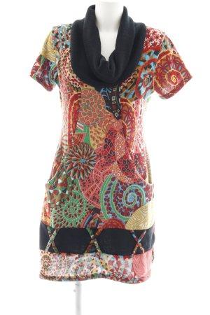 Smash Sweater Dress abstract pattern Boho look