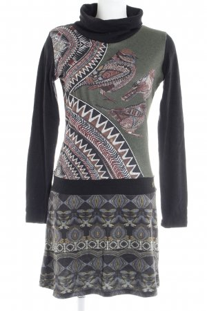 Smash Pulloverkleid abstraktes Muster Casual-Look