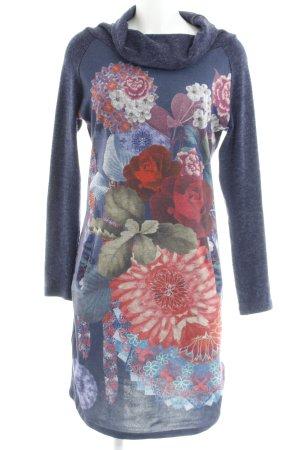 Smash Robe pull motif de fleur style décontracté