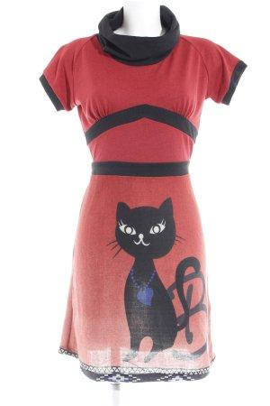 Smash Sweaterjurk rood-zwart casual uitstraling
